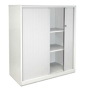Metal Tambour Unit White