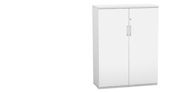 Locking Cupboard White